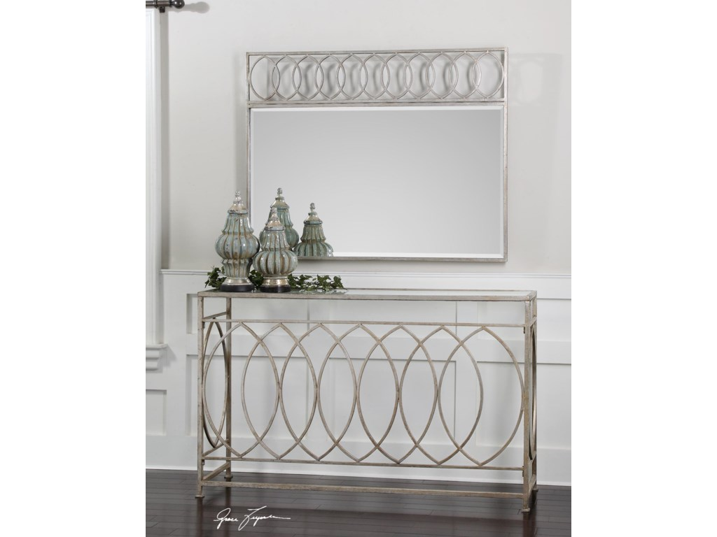 Uttermost Accent FurnitureAniya Glass Top Console Table