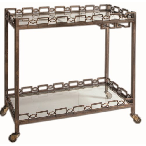 Uttermost Accent Furniture Nicoline Iron Serving Cart