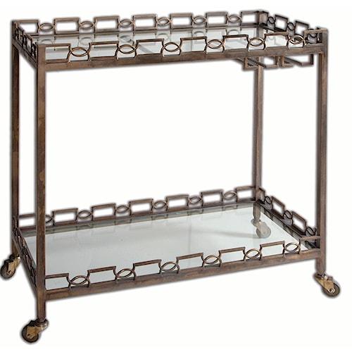 Uttermost Accent Furniture Nicoline Iron Serving Cart