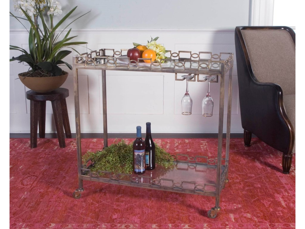Uttermost Accent FurnitureNicoline Iron Serving Cart