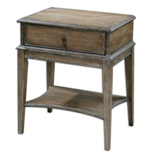Uttermost Accent Furniture Hanford Weathered Accent Table