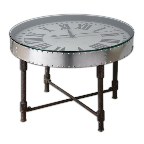 Uttermost Accent Furniture Cassem Clock Table