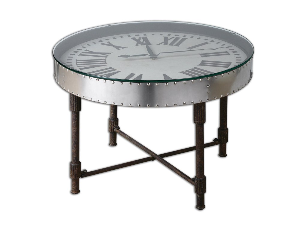 Uttermost Accent FurnitureCassem Clock Table