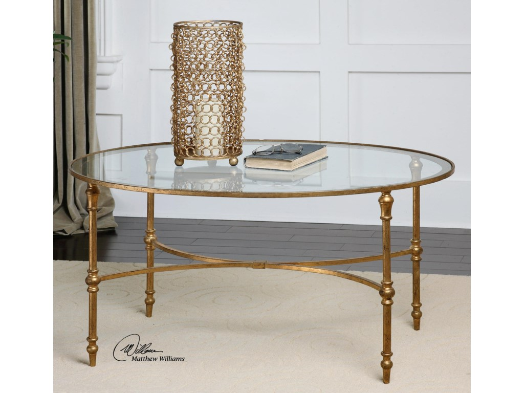 Uttermost Accent Furniture - Occasional TablesVitya Glass Coffee Table