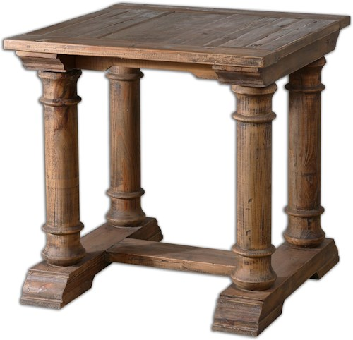 Uttermost Accent Furniture Saturia Wooden End Table