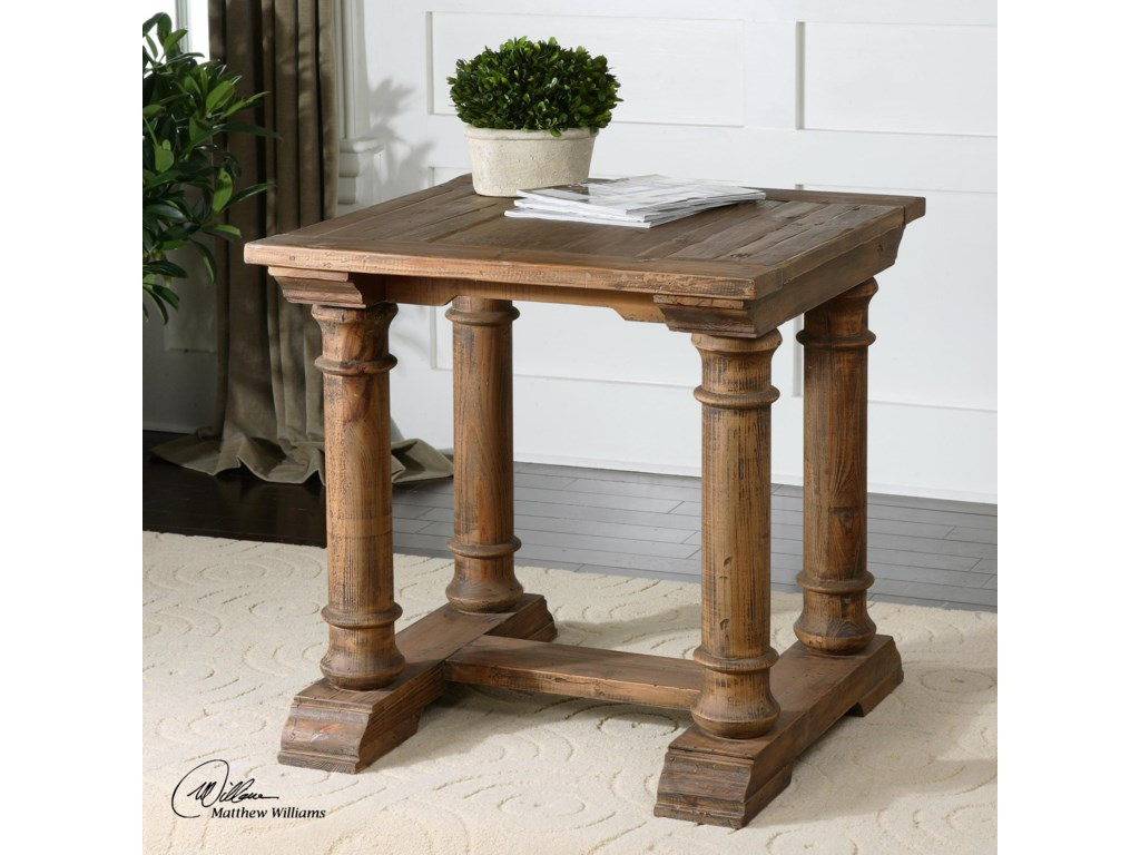 Uttermost Accent Furniture - Occasional TablesSaturia Wooden End Table