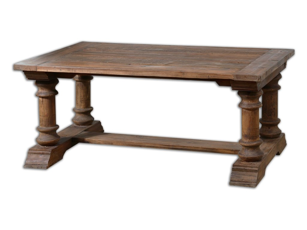 Uttermost Accent Furniture - Occasional TablesSaturia Wooden Coffee Table
