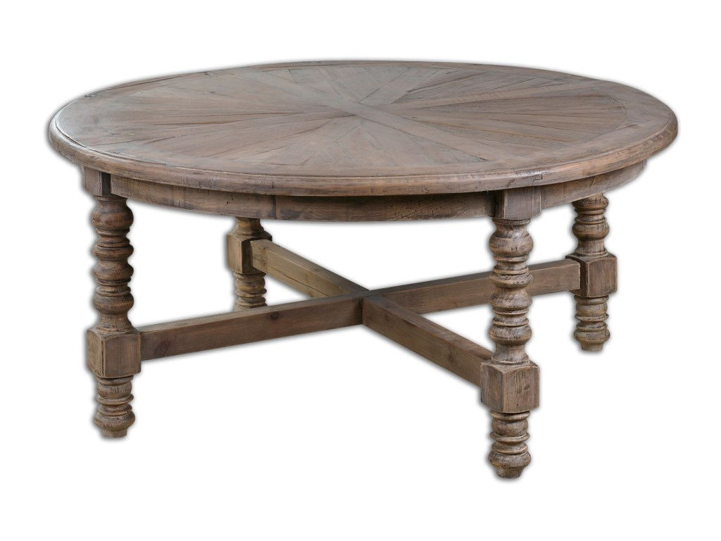Uttermost Accent Furniture Samuelle Wooden Coffee Table - Uttermost driftwood cocktail table