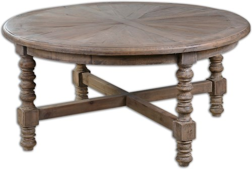 Uttermost Accent Furniture Samuelle Wooden Coffee Table
