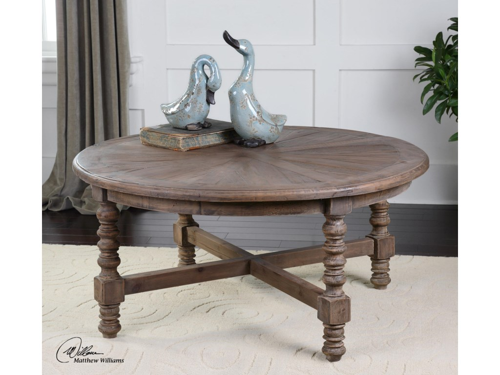 Uttermost Accent Furniture - Occasional TablesSamuelle Wooden Coffee Table