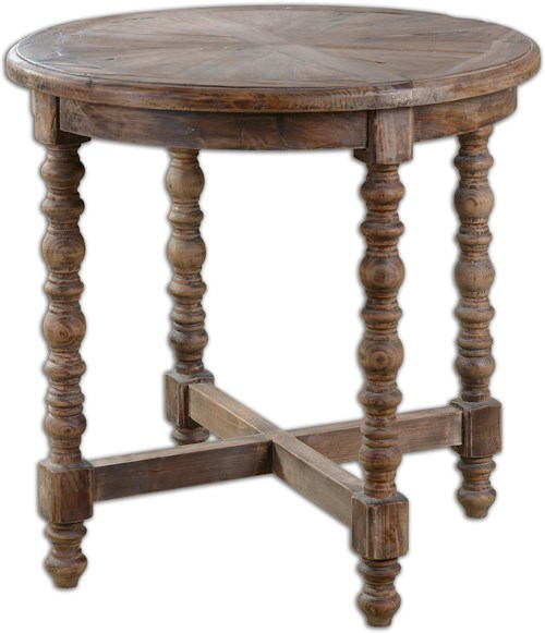 Uttermost Accent Furniture Samuelle Wooden End table