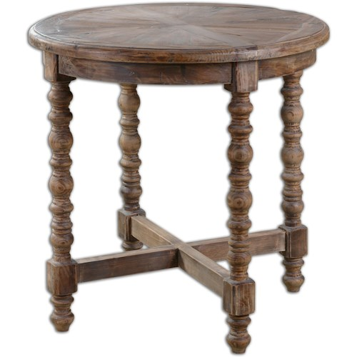 Uttermost Accent Furniture - Occasional Tables Samuelle Wooden End table