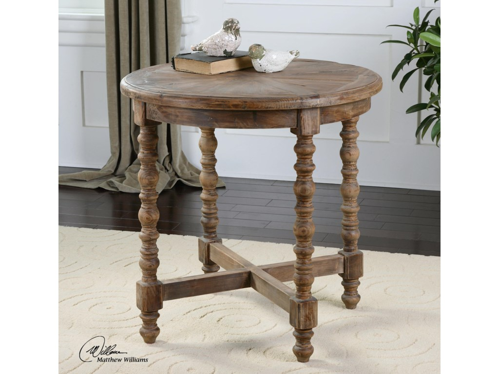 Uttermost Accent Furniture - Occasional TablesSamuelle Wooden End table