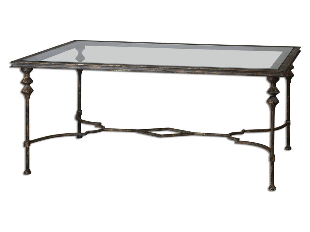 Uttermost Accent Furniture Quillon Glass Coffee Table Aladdin Home - Uttermost driftwood cocktail table