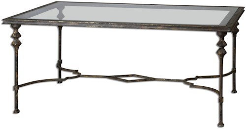 Uttermost Accent Furniture Quillon Glass Coffee Table