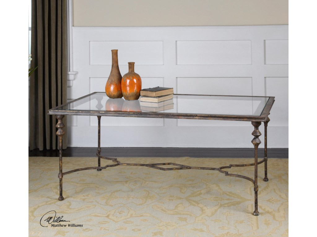 Uttermost Accent FurnitureQuillon Glass Coffee Table