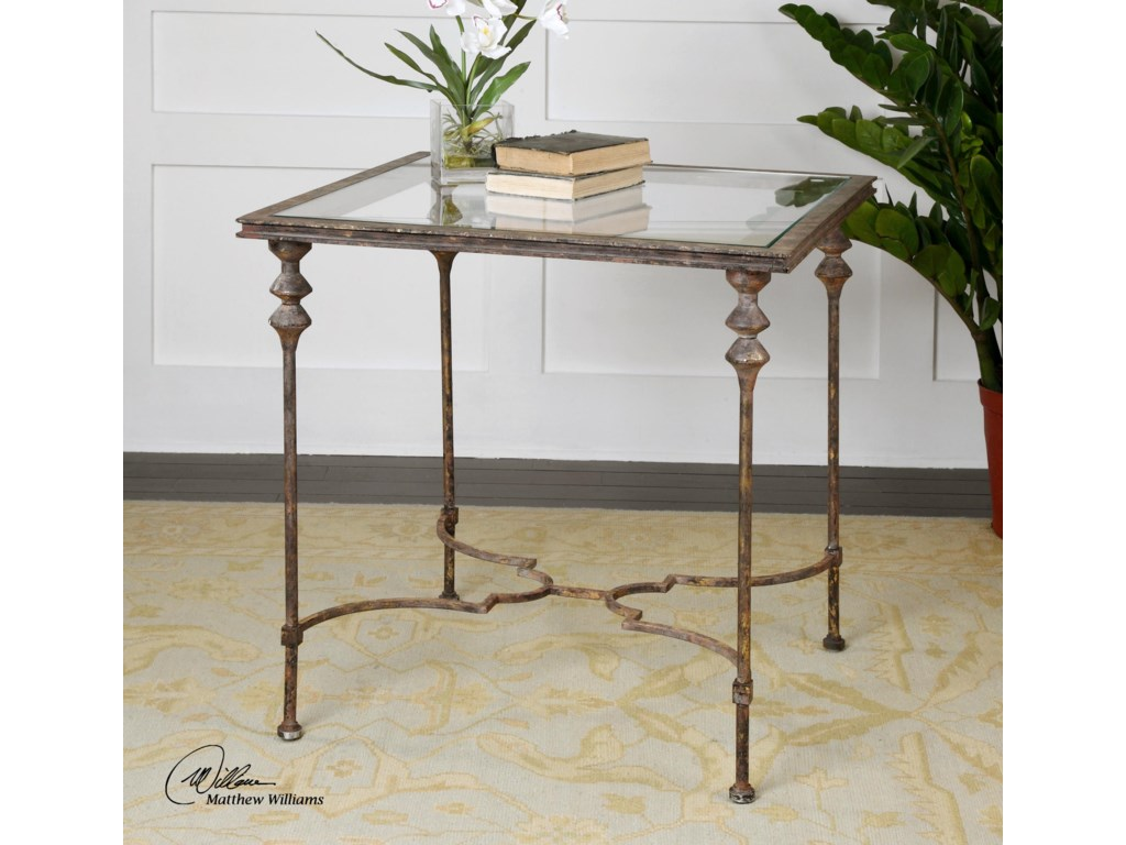 Uttermost Accent FurnitureQuillon Glass End Table