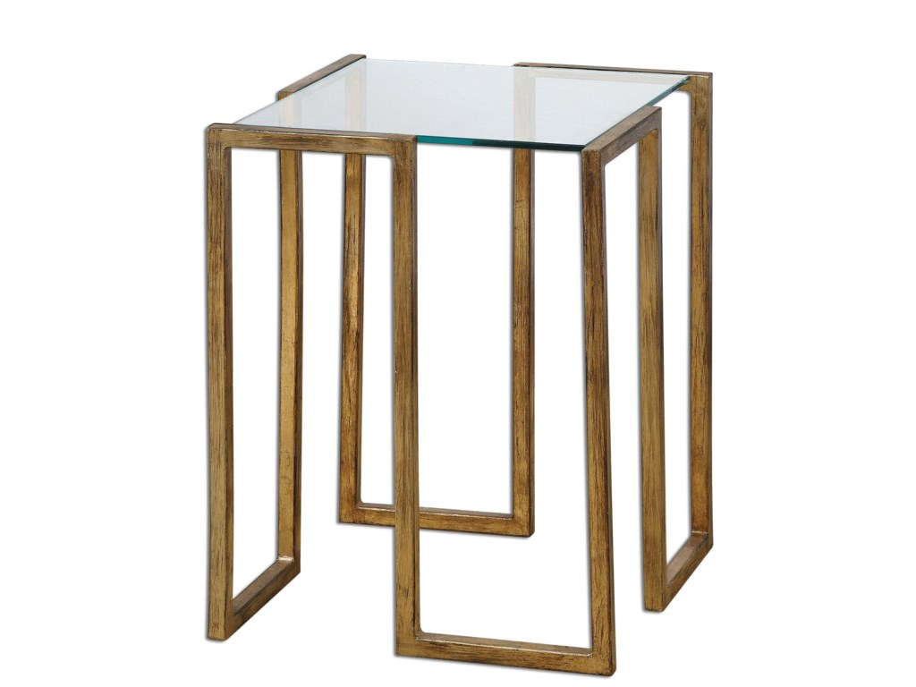 Uttermost Accent Furniture Occasional Tables Mirrin Accent Table