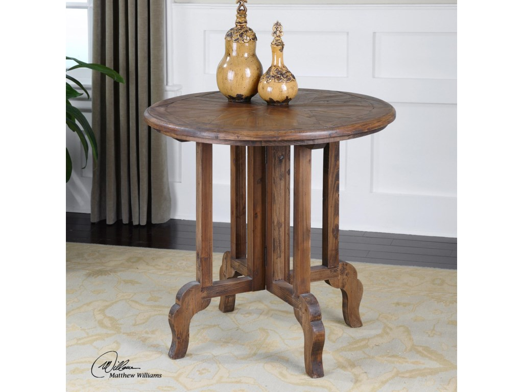 Uttermost Accent Furniture - Occasional TablesImber Round Accent Table