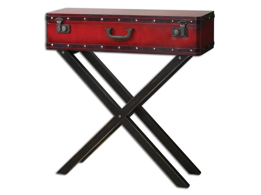 Uttermost Accent FurnitureTaggart Red Console Table