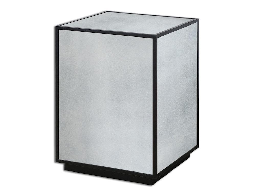 Uttermost Accent FurnitureMatty Mirrored Side Table