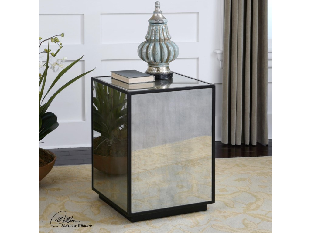 Uttermost Accent FurnitureMatty Mirrored Side Table