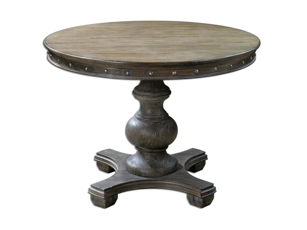 Uttermost Accent Furniture - Occasional TablesSylvana Wood Round Table
