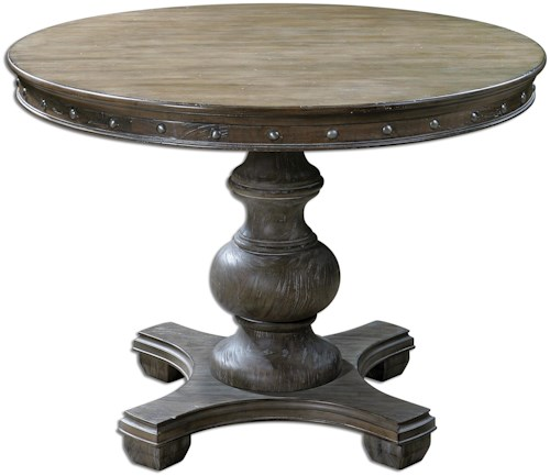 Uttermost Accent Furniture Sylvana Wood Round Table