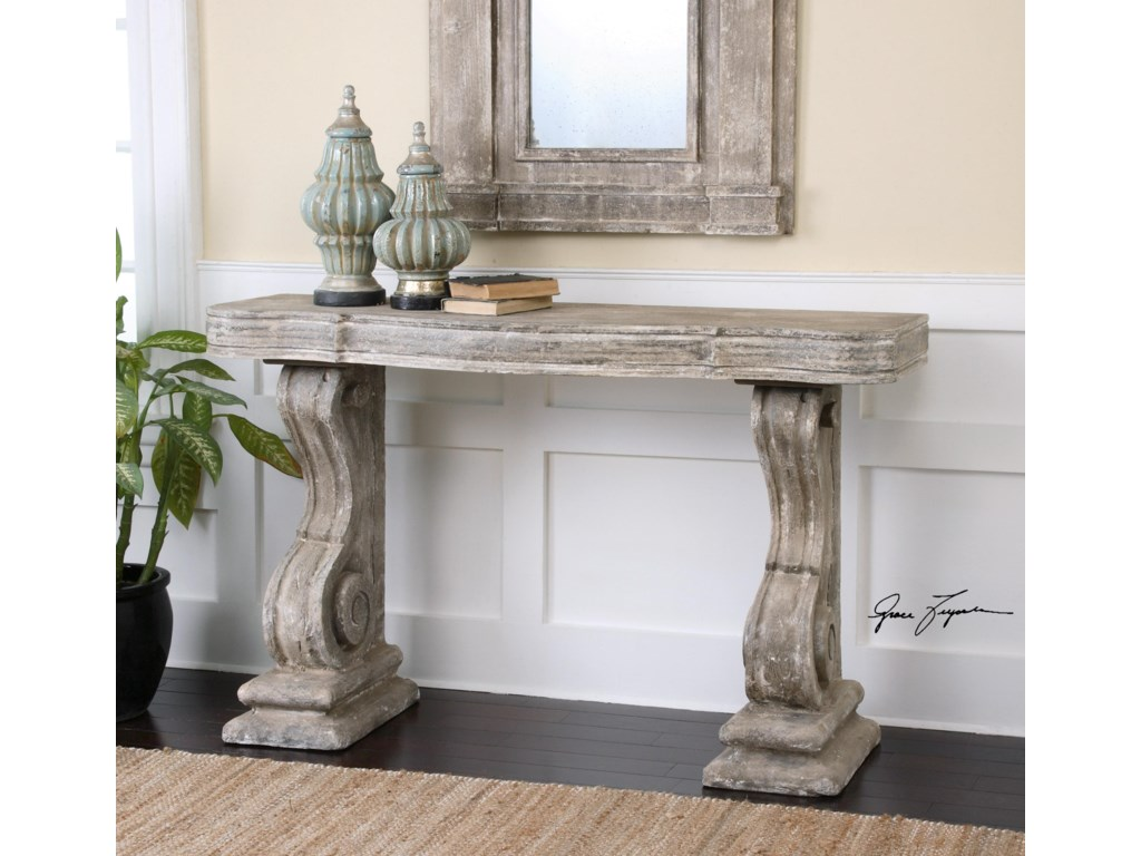 Uttermost Accent FurniturePartemio Distressed Console Table