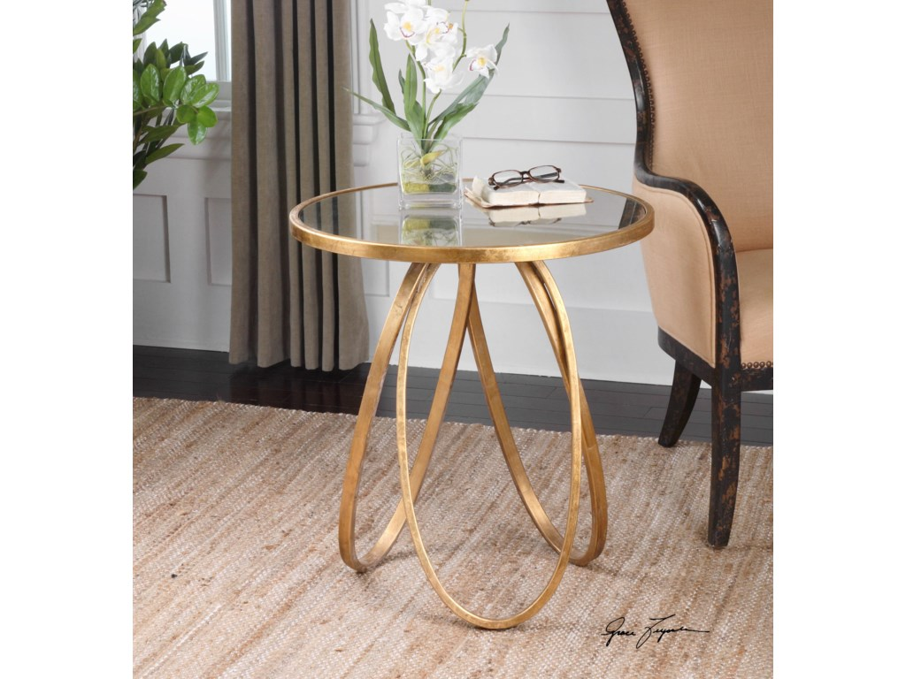 Uttermost Accent Furniture Occasional Tables Montrez Gold Accent