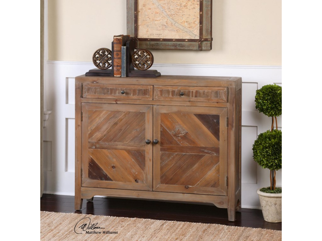 Uttermost Accent Furniture - ChestsHesperos Reclaimed Wood Console Cabinet