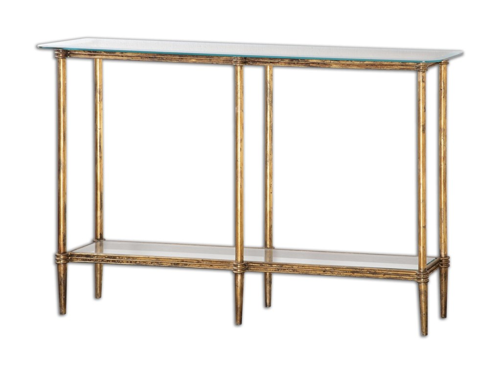Uttermost Accent Furniture - Occasional TablesElenio Glass Console Table
