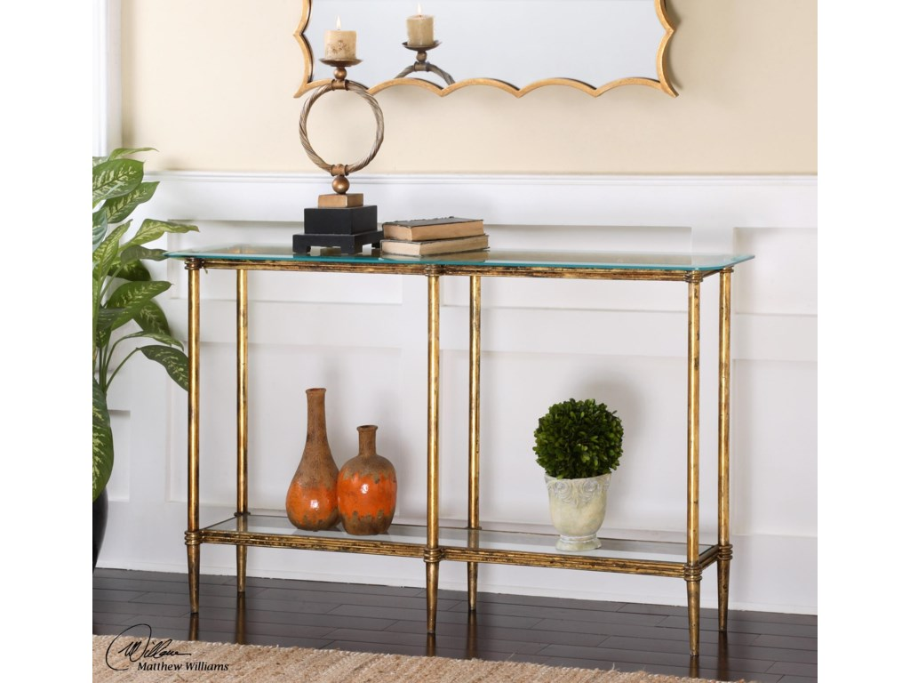 Uttermost Accent FurnitureElenio Glass Console Table