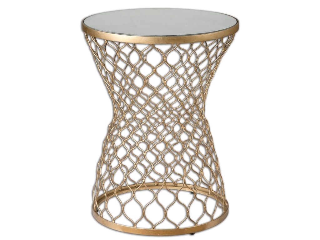 Uttermost Accent Furniture - Occasional TablesNaeva Gold End Table