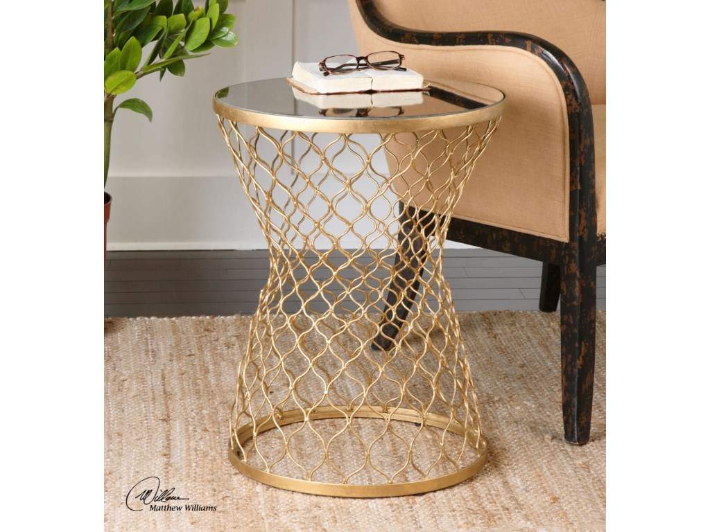 Uttermost Accent FurnitureNaeva Gold End Table