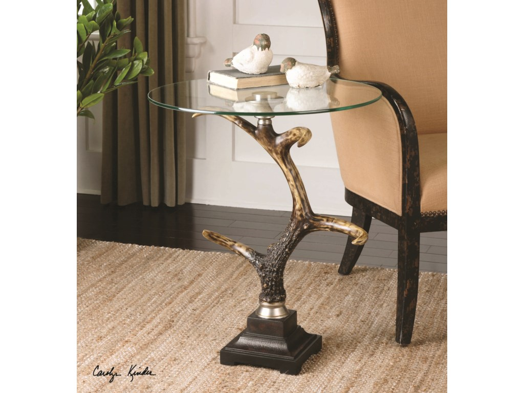 Uttermost Accent FurnitureStag Horn Accent Table