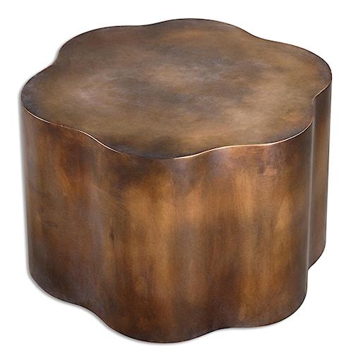 Uttermost Accent Furniture Sameya Oxidized Copper Accent Table