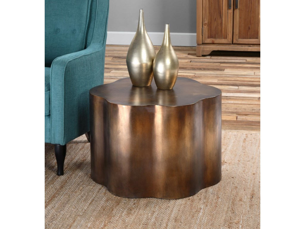 Uttermost Accent FurnitureSameya Oxidized Copper Accent Table