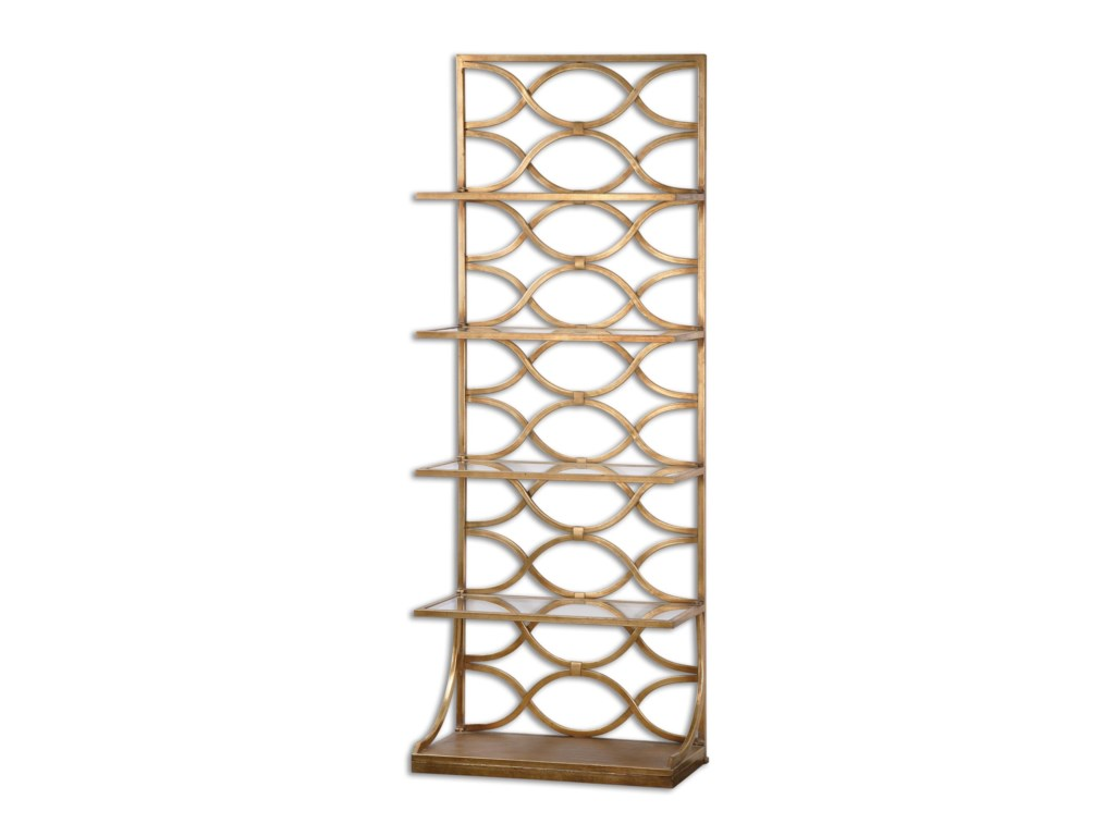 Uttermost Accent Furniture - BookcasesLashaya Gold Etagere