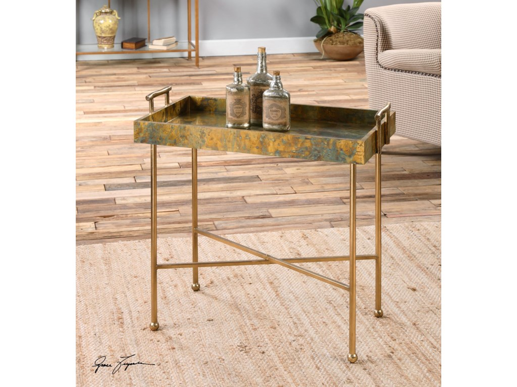 Uttermost Accent FurnitureCouper Oxidized Tray Table