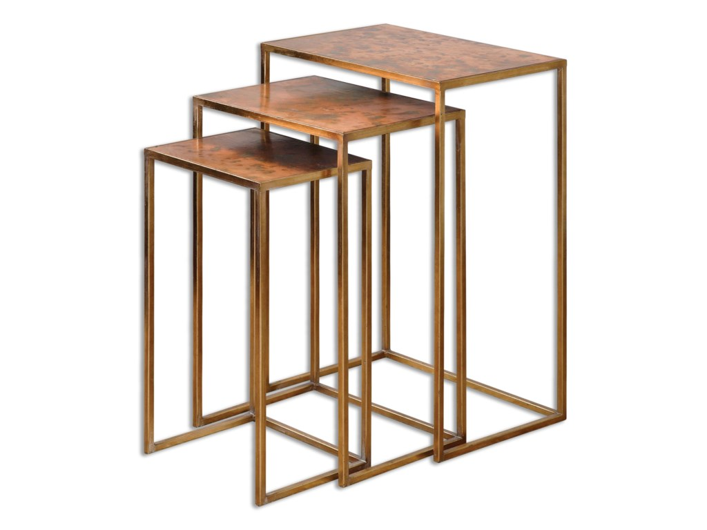 Uttermost Accent Furniture - Occasional TablesCopres Oxidized Nesting Tables Set/3