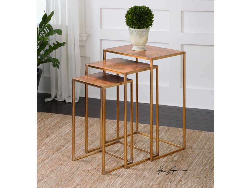 Uttermost Accent FurnitureCopres Oxidized Nesting Tables Set/3