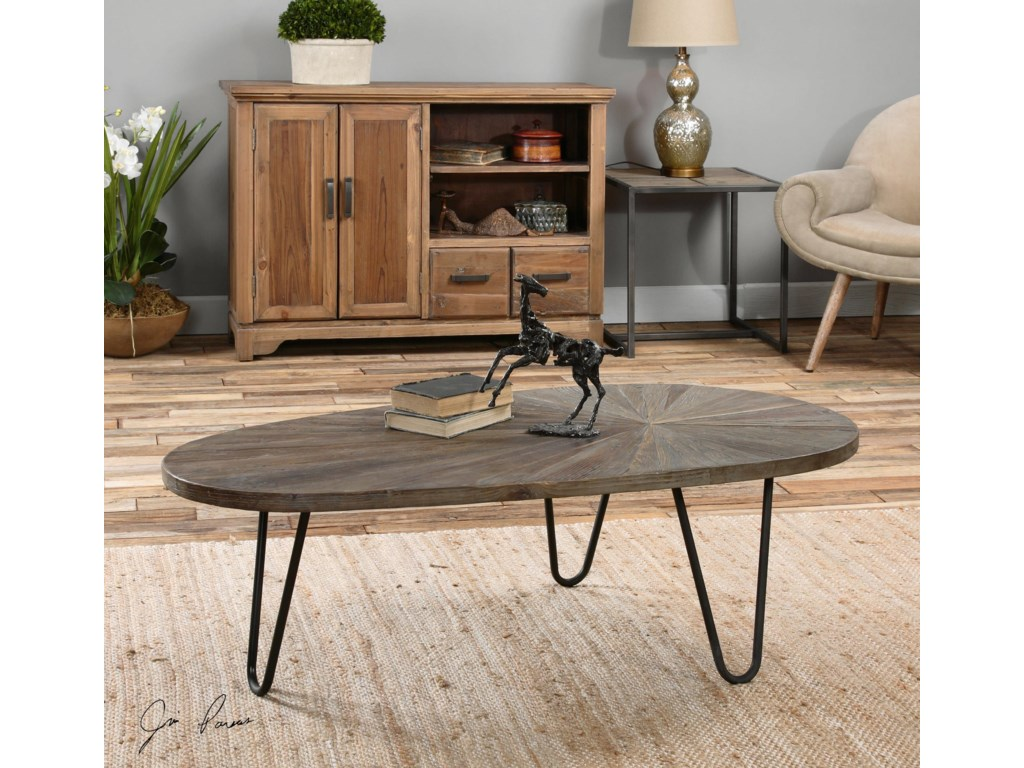 Uttermost Accent Furniture - Occasional TablesLeveni Wooden Coffee Table