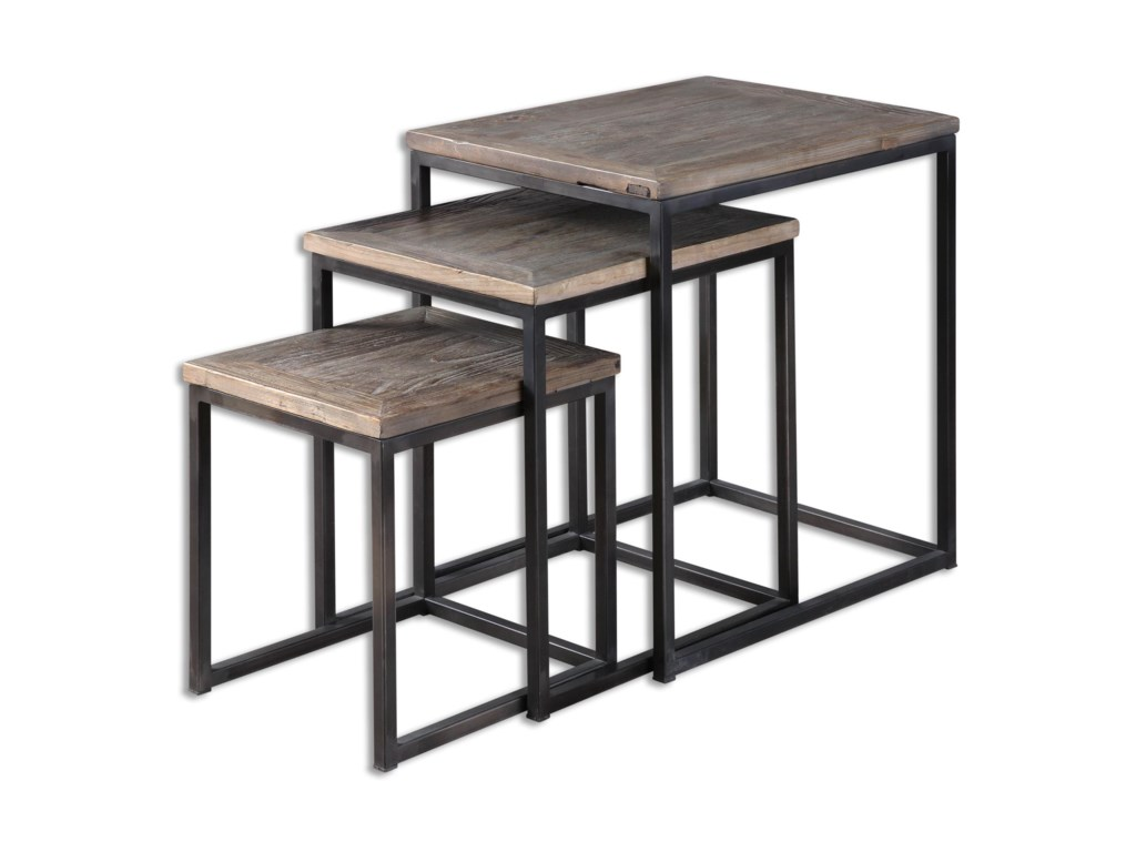 Uttermost Accent FurnitureBomani Wood Nesting Tables Set/3