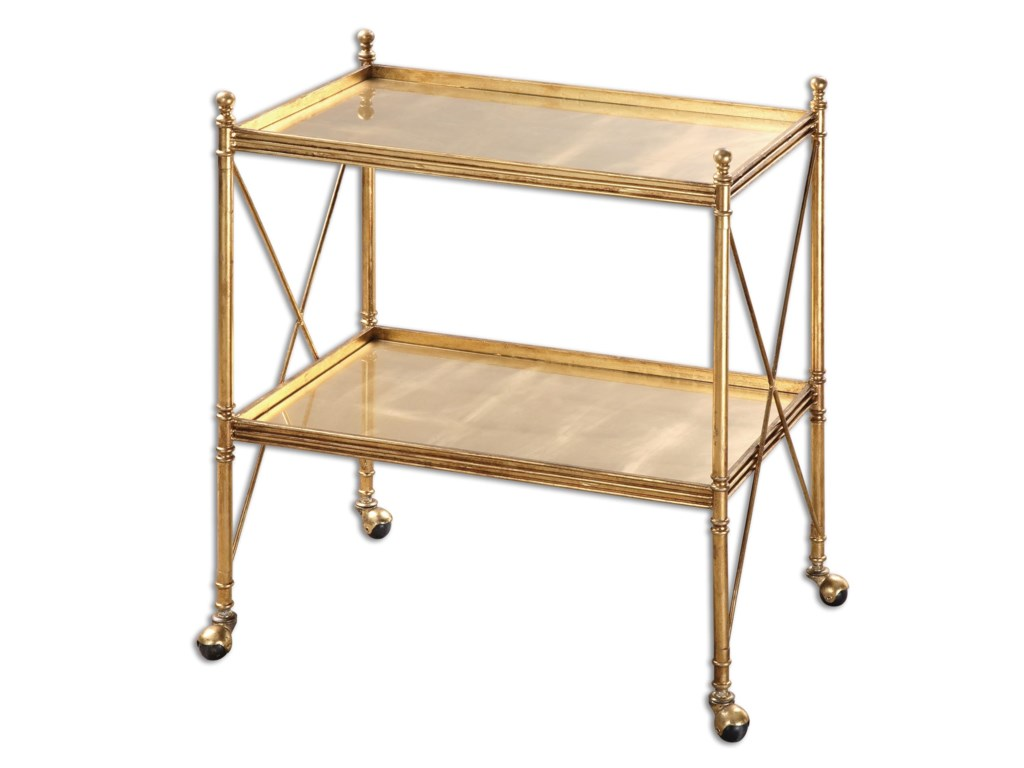 Uttermost Accent FurnitureAmaranto Gold Serving Cart