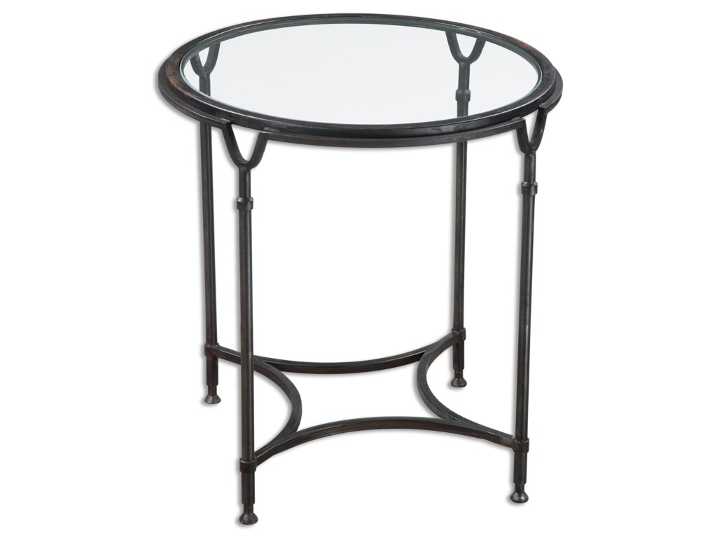 Uttermost Accent Furniture - Occasional TablesSamson Glass Side Table