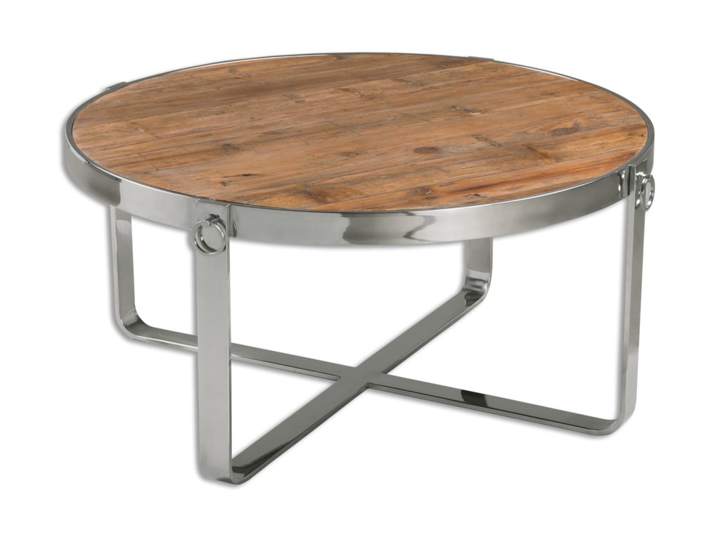 Uttermost Accent Furniture - Occasional TablesBerdine Wooden Coffee Table