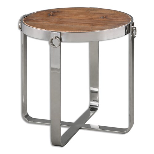 Uttermost Accent Furniture Berdine Wooden Side Table