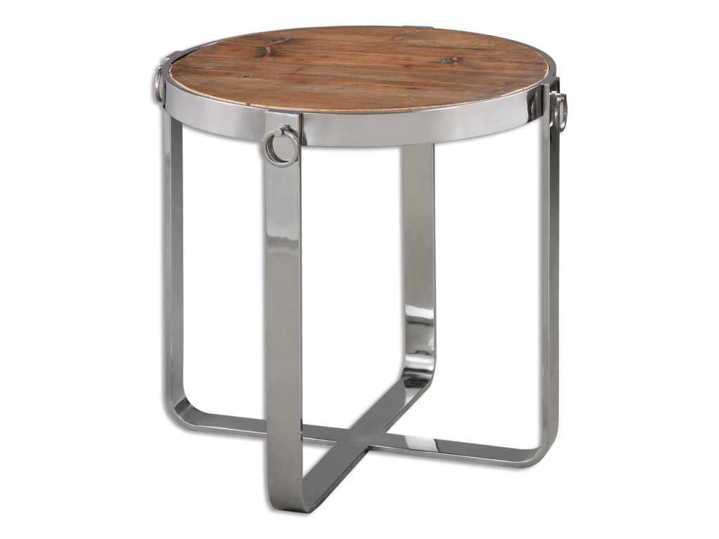 Uttermost Accent Furniture - Occasional TablesBerdine Wooden Side Table