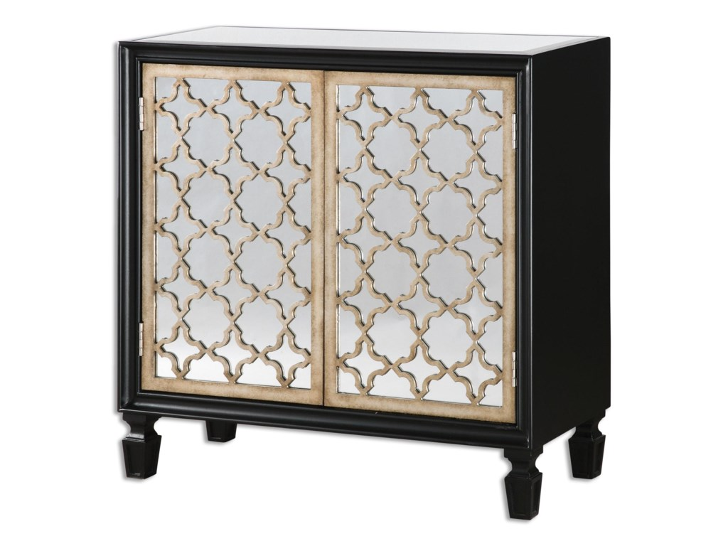 Uttermost Accent Furniture Chests Franzea Mirrored Console Cabinet
